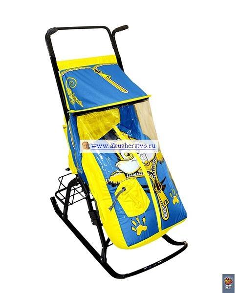 Санки-коляски R-Toys Снегурочка 42-Р Бельчонок с корзинкой