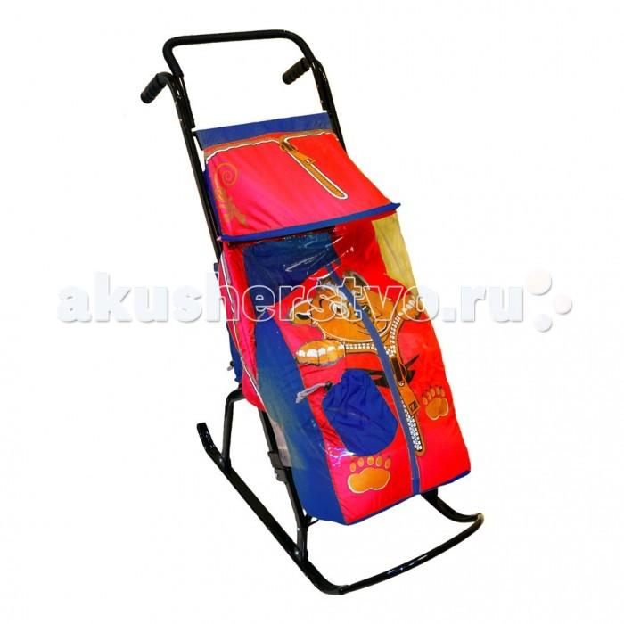Санки-коляски R-Toys Снегурочка 2-Р Медвежонок