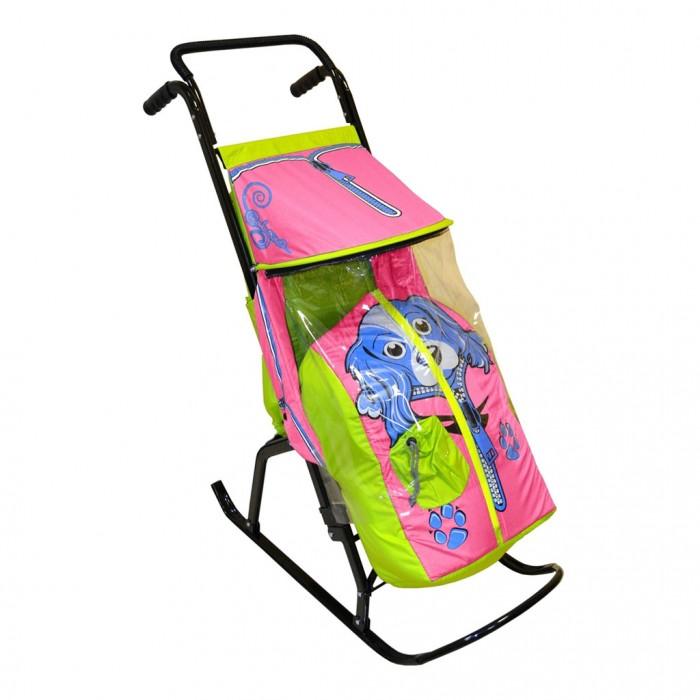 Санки-коляски R-Toys Снегурочка 2-Р Собачка