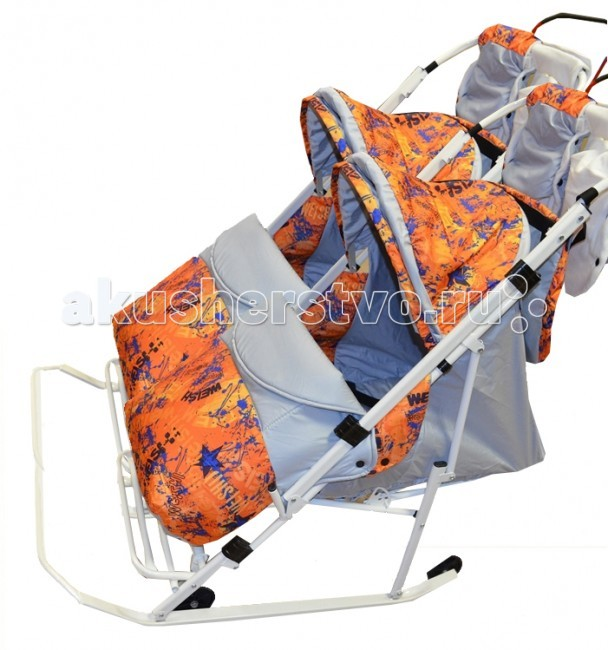 Санки-коляски Rich Toys Komfort для двойни