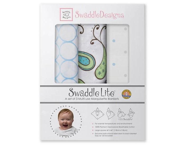 Пеленки SwaddleDesigns SwaddleLite Paisley комплект 3 шт.
