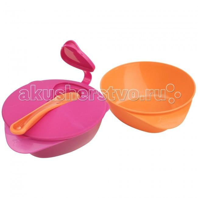 Посуда Tommee Tippee Глубокая тарелочка с Волшебным дном, крышкой и ложкой