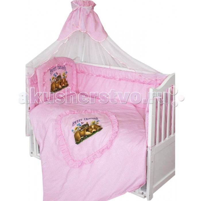Комплекты для кроваток Золотой Гусь Аленка (7 предметов)